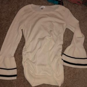 Cream maternity blouse